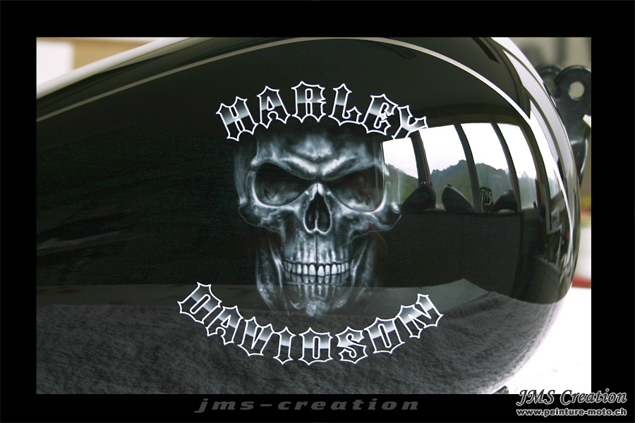 Peinture Sur Moto Harley Davidson